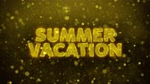 tropikal meyve : Summer Vacation Text Golden Glitter Glowing Lights Shine Particles. Sale, Discount Price, Off Deals, Offer promotion offer percent discount ads 4K Loop Animation. Stok Video
