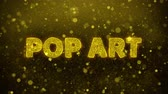 comique : Pop Art Text Golden Glitter Glowing Lights Shine Particles. Sale, Discount Price, Off Deals, Offer promotion offer percent discount ads 4K Loop Animation.