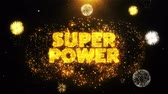 comique : Super Power Text on Firework Display Explosion Particles. Sale, Discount Price, Off Deals, Offer promotion offer percent discount ads 4K Loop Animation. Vidéos Libres De Droits