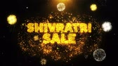 ling : Shivratri Sale Text on Firework Display Explosion Particles. Sale, Discount Price, Off Deals, Offer promotion offer percent discount ads 4K Loop Animation.