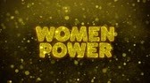 megafon : Women Power Text Golden Glitter Glowing Lights Shine Particles. Sale, Discount Price, Off Deals, Offer promotion offer percent discount ads 4K Loop Animation.