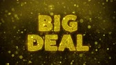 купон : Big Deal Text Golden Glitter Glowing Lights Shine Particles. Sale, Discount Price, Off Deals, Offer promotion offer percent discount ads 4K Loop Animation. Стоковые видеозаписи