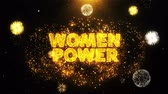 loteria : Women Power Text on Firework Display Explosion Particles. Sale, Discount Price, Off Deals, Offer promotion offer percent discount ads 4K Loop Animation.