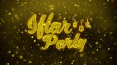quran : Iftar Party wish Text Golden Glitter Glowing Lights Shine Particles. Greeting card, Wishes, Celebration, Party, Invitation, Gift, Event, Message, Holiday, Festival 4K Loop Animation.