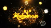 válka : Muharram Text wish on Firework Display Explosion Particles. Greeting card, Wishes, Celebration, Party, Invitation, Gift, Event, Message, Holiday Festival 4K Loop Animation