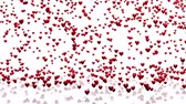 bizonyítani : Plenty of Tiny Red Hearts Raining With A White Background