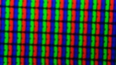 náhradník : colored pixels from the monitor screen under a microscope