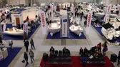 lancha : ROME, ITALY - FEBRUARY 26, 2015: Boat Show Rome 2015 edition, focused on small sized marine products, sailboats, motorboats, RIBs and inflatables up to 15 mt. Vídeos