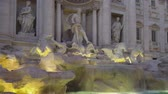 article : Trevi Fountain at dusk, sightseeing view, Rome, Italy.