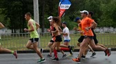 DNIPRO, UKRAINE- MAY 20: Marathon runners compete at the 3rd INTERPIPE Dnipro Half Marathon 2018, May 20, 2018 in Dnipro, Ukraine