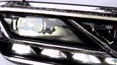 detalhado : Modern car headlights. Exterior detail.