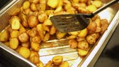 potato dishes : Roasted new potatoes with herb. Stock Footage