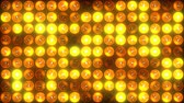 A circle of lighting fixtures. looped seamless glow of halogen lamps. Use for festive backgrounds without interruption and pause. Computer animation 4K prores. codec. Stock Footage