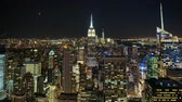 Timelapse of downtown New York City (Manhattan) at dusk.