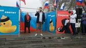 objection : Rally organized by Navalny in May 2018 in Novosibirsk.
