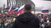 oposicion : Rally organized by Navalny in May 2018 in Novosibirsk.