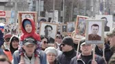 veterán : The Immortal Regiment. Procession in memory of dead heroes of Second World War.