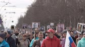 immortal : The Immortal Regiment. Procession in memory of dead heroes of Second World War.