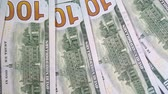 piyango : Dollars are slowly moving close-up. The money of an American bank. Turnover cash