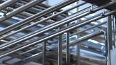 ducts : Pipeline of the plant. Pipeline in the workshop of a modern factory. Stock Footage