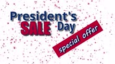 ulusal bayrağı : Presidents Day Sale, special offer text