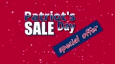 electing : Banner on Patriot`s Day sale, special offer with USA flag colors