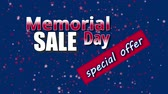 electing : Banner on Memorial Day sale, special offer with USA flag colors