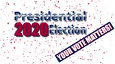 electing : Banner on the 2020 presidential election in the United States of America Stock Footage