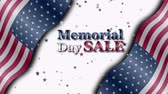 Banner on sale with special offers for the Memorial day