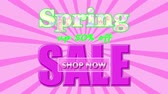 Banner on the special offers for the Spring Sale, up to 50% off, shop now