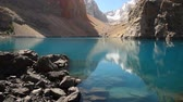 pretty : Beautiful lake in the Fann mountains, Tajikistan