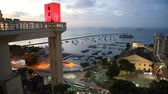 salvador : Sunset view of Salvador City in Bahia, Brazil Stock Footage