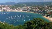 concha : Panoramic aerial view of San Sebastian Donostia , Basque Country, Spain