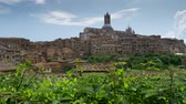 тосканский : Siena - beautiful medieval town in Tuscany, Italy. Gimbal shot, UHD Стоковые видеозаписи