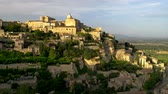 Gordes, France. Gordes is a commune in Provence in southern France. Panoramic shot, 4K