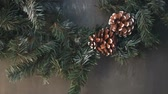 czerwony : Cristmas tree with fir-cone