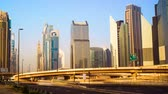 hlavní : Timelapse view of Skyscrapers at the Sheikh Zayed Road with traffic in Dubai