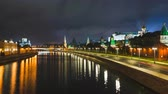 russo : Timelapse view of historical center Moscow center with river, kremlin and traffic
