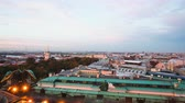 russo : Timelapse view of downtown Saint Petersburg from roof of Saint Isaac cathedral day to night sunset Vídeos
