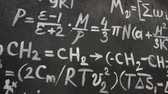 chalk : Chemical and mathematical equations wall room background Stock Footage