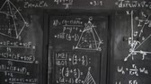 científico : Chemical and mathematical equations wall room background paning