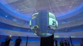 diverse : ASTANA, Kazakhstan - June 10, 2017: Malaysian Expo pavilion with futuristic screen with future energy concept