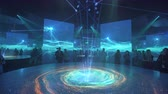 diverso : ASTANA, Kazakhstan - June 10, 2017: German Expo pavilion with futuristic screen with future energy concept Stock Footage