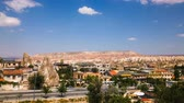 lugar : Timelapse view of famous Goreme village in Cappadocia at day time in Turkey