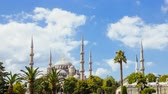 turcja : Pan shot timelapse of The Blue Mosque or Sultanahmet outdoors in Istanbul city in Turkey