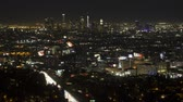 ışıklar : Time lapse of downtown Los Angeles at night Stok Video