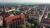 town hall : Aerial panoramic view of a historical town in Europe