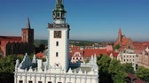 stadtplatz : Aerial view of a Renaissance Town Hall in Poland Videos
