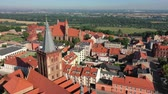 santuario : Aerial view of Gothic Churches in an old town in Europe
