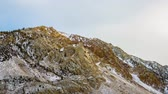 Timelapse of Gold Peak near Lake Sabrina, California